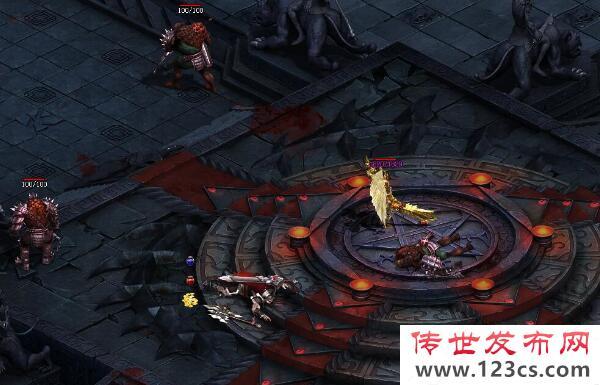 火传世中战士开红成功击杀敌人的玩法介绍